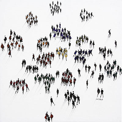 Wall Art - Painting - Cliques by Neil McBride
