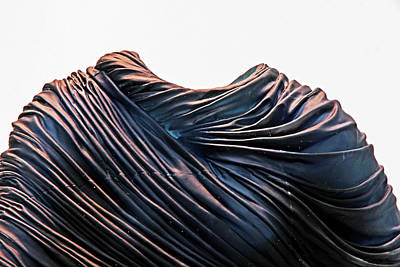 Photograph - Cloaked Swirls Copper And Blues Abstract Tunic 2 8282017  by David Frederick