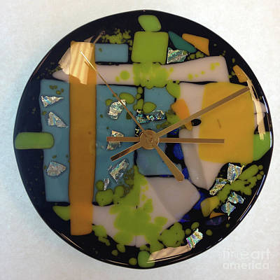 Glass Art - Clock by Alessandra Di Noto