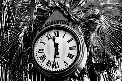 Photograph - Clock And Palm by Gina O'Brien