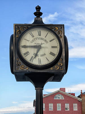 Photograph - Clock At Gettysburg by Dave Mills