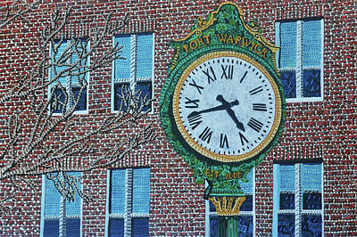 Painting - Clock At Port Warwick by Micah Mullen