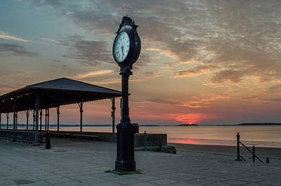 Photograph - Clock At Sunrise by Mike Ste Marie