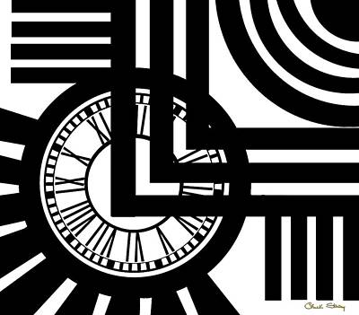 Digital Art - Clock Design by Chuck Staley