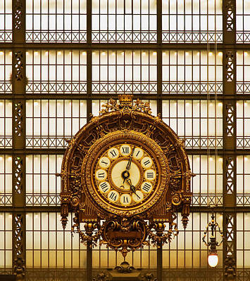 Photograph - Clock Dorsay Museum by Mick Burkey