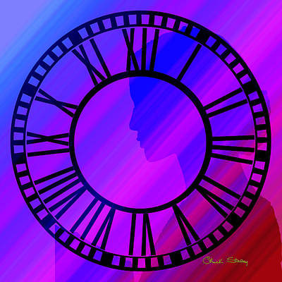 Digital Art - Clock Face - Chuck Staley by Chuck Staley