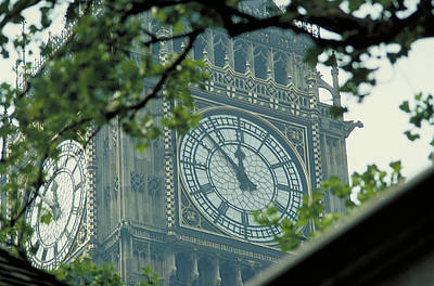 Photograph - Clock Face Of Big Ben by Carl Purcell