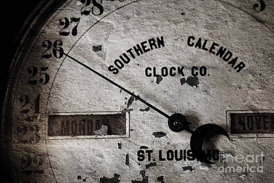 Photograph - Clock Face by Pete Hellmann
