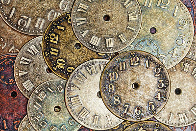 Photograph - Clock Faces by Sharon McConnell