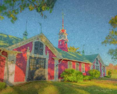 David Ames Clock Farm Art Print