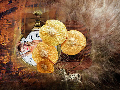 Clock Girl Art Print