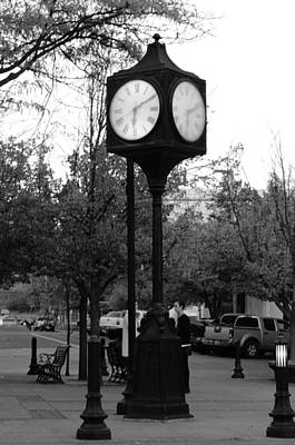 Photograph - Clock by Jean Evans