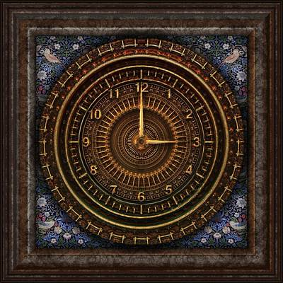 Fantasy Tapestries - Textiles Mixed Media - Clock Of Time by Zin Shades