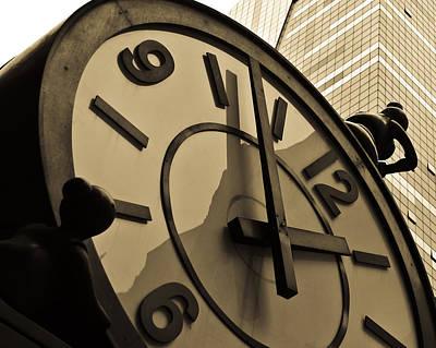Clock Photograph - Clock by Roberto Bravo