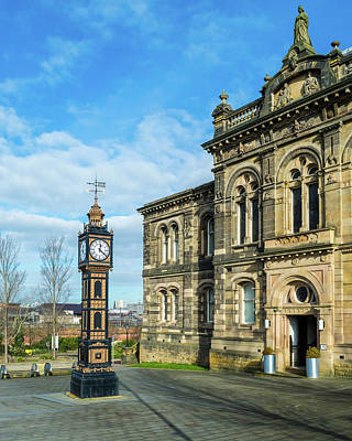 Photograph - Clock Tower A Gateshead Old Town Hall by Jacek Wojnarowski