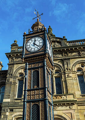 Photograph - Clock Tower C Gateshead Old Town Hall by Jacek Wojnarowski
