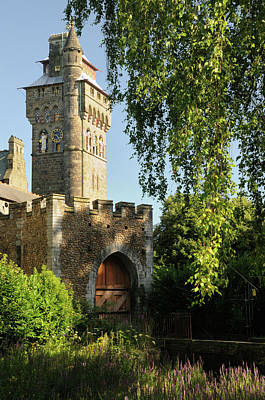 Photograph - Clock-tower, Cardiff Castle, Wales by Jeremy Voisey
