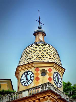 Clock Tower Of Portofino Art Print by Sue Melvin