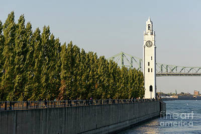Photograph - Clock Tower Quay Montreal by John  Mitchell