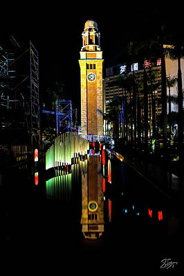 Photograph - Clock Tower Reflected by Endre Balogh