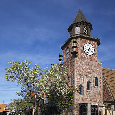 Photograph - Clock Tower Solvang by Shishir Sathe