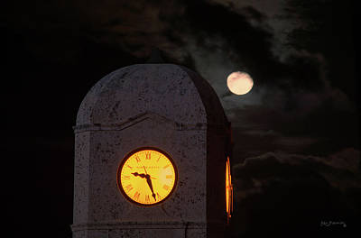 Photograph - Clock Tower Worth Avenue Palm Beach by Ken Figurski