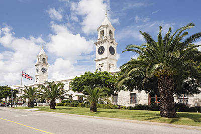 Architcture Photograph - Clock Towers Of The Royal Naval Dockyard by George Oze