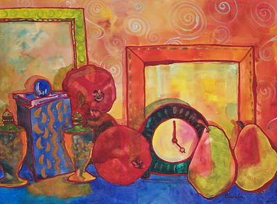 Pear Painting - Clock Work by Blenda Studio