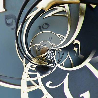 Mechanisms Mixed Media - Clockface1  by Philip Openshaw