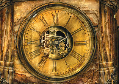 Clockmaker - Clock Works Art Print by Mike Savad