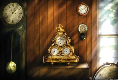 Clockmaker - Clocks Art Print by Mike Savad