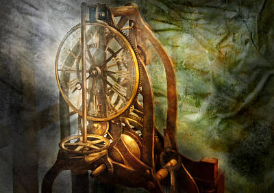 Clockmaker - The Day Time Stood Still  Art Print by Mike Savad
