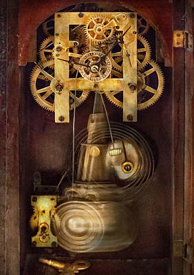 Photograph - Clockmaker - The Mechanism  by Mike Savad