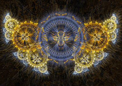 Digital Art - Clockwork Butterfly by Martin Capek