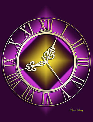 Digital Art - Clockwork Purple by Chuck Staley