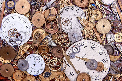 Gear Photograph - Clockworks Still Life by Tom Mc Nemar