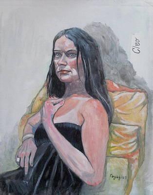 Painting - Cloe by Ray Agius