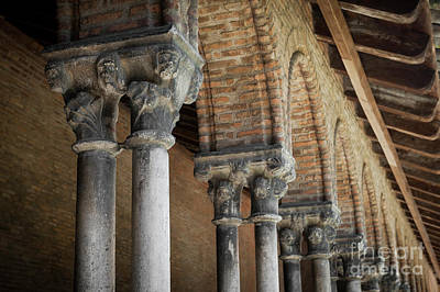 Print featuring the photograph Cloister Columns, Couvent Des Jacobins by Elena Elisseeva