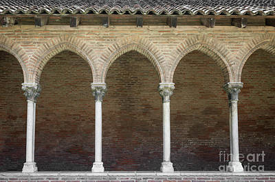 Cloister In Couvent Des Jacobins Art Print by Elena Elisseeva