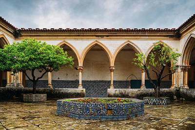 Photograph - Cloister Of The Cemetery, Tomar Castle, Portugal by Alexandre Rotenberg