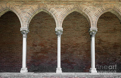 Cloister With Arched Colonnade Art Print by Elena Elisseeva