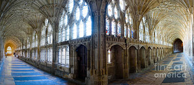 Photograph - Cloisters, Gloucester Cathedral by Colin Rayner