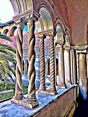Digital Art - Cloisters Of St. Johns Lantern In Rome by Mindy Newman