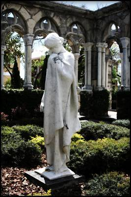Photograph - Cloisters Statue by Heidi Hermes