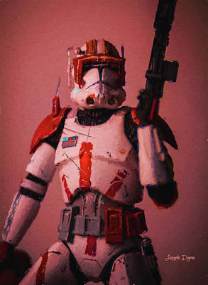 Rescue Painting - Clone Commander Cody - Free Style by Leonardo Digenio