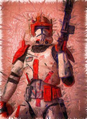 Belt Digital Art - Clone Commander Cody  - Pencil Style -  - Da by Leonardo Digenio