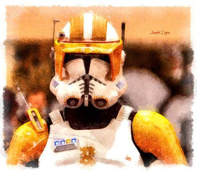 Ray Digital Art - Clone Trooper Commander  - Cartoonized Style -  - Da by Leonardo Digenio