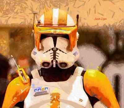 Armor Digital Art - Clone Trooper Commander  - Free Style -  - Da by Leonardo Digenio
