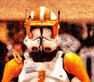 Lord Digital Art - Clone Trooper Commander  - Wax Style -  - Da by Leonardo Digenio