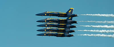 Flight Formation Photograph - Cloning by Sebastian Musial